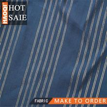 2015 HOT CHINA Cotton yarn-dyed silver stripes fabric for characterized women garments