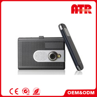 Support GPS navigation and radar detection dual camera 1080p car dvr