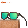 Brown tint Mirrored lenses UVA and UVB sunglasses polarized bamboo