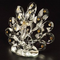 The peacock beautiful crystal gifts crystal figurine
