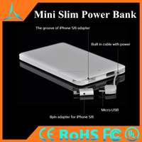 2016 4000mah Mini Credit Card Battery Charge Portable Power Bank For Mobile Phone Ultra-slim Power Bank