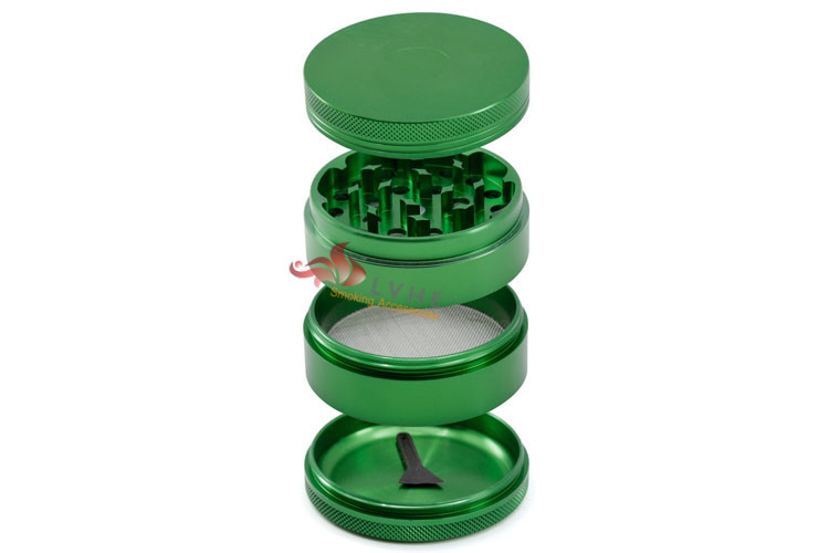 T078GA Tolly 63mm 4 Layers Aluminum Magnetic Mill Tobacco Crusher Grinder Weed