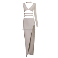 2016 Hot Sale Sexy Gown Bodycon Hollow Out Long Bandage Dress