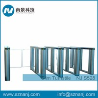 304 Stainless Steel Waist High Turnstile Pedestrian Access Swing Barrier