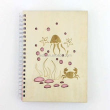 sea world wood craft notebook gift