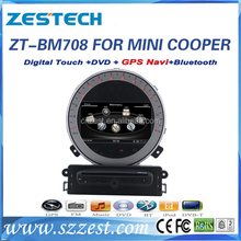 zestech best touch screen car stereo for BMW MINI COOPER S R56 car radio bluetooth audio player one din car stereo gps stereo
