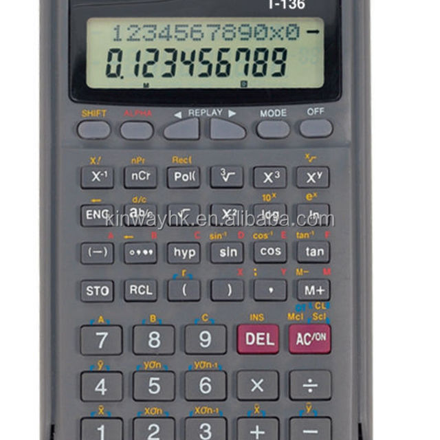lowest price electronic school fraction lcd clock scientific calculator