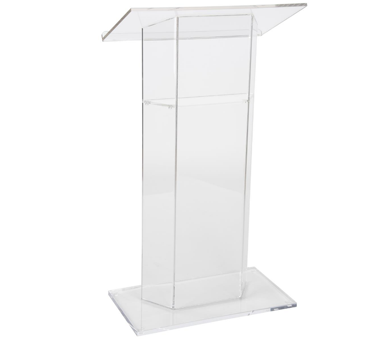 BOK132 Acrylic Podium for Floor With Optional Shelf