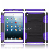 Rugged Shockproof belt clip holster case for ipad mini 4 ,hybrid combo kickstand case for ipad mini 4 stand cover