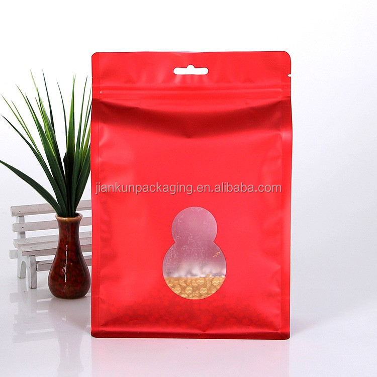 2017 new products nut food flat bottom pouch with pocket