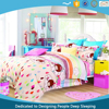 Great Quality Kid Bedding Set 100% Cotton Garden Range 3 Pcs Flat Sheet Fitted Sheet and Duvet Cover
