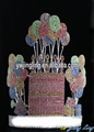 Beauty Brithday Party Cupcake Custom Rhinestone Balloon Crowns