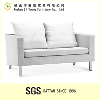 Best Price And Very Popular Handmade Rattan Home Furniture Set , Luxury Elegant And White Comfortable Soft Living Room Sofa