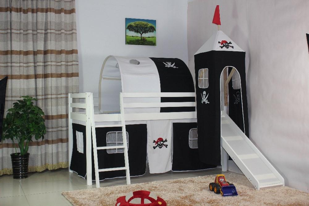 Tenda Tunnel Letto A Castello : Letto per bambini con tenda: cameretta bambini letto a soppalco