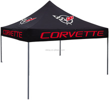 Outdoor commercial hex frame pop up canopy, advertising quick folding shelter tent 3x3