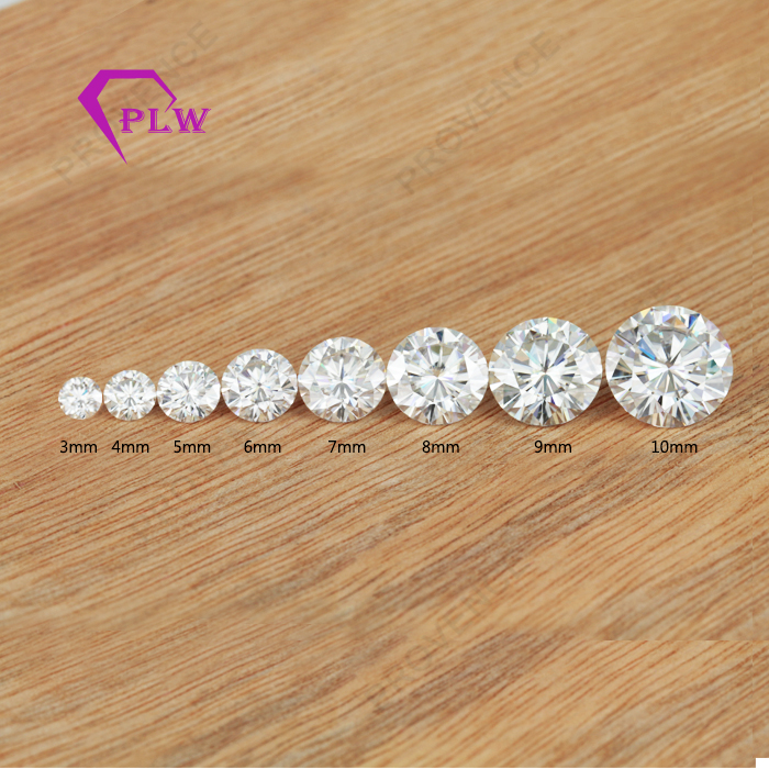 3mm to 10mm colorless white moissanite <strong>diamond</strong> price wholesale