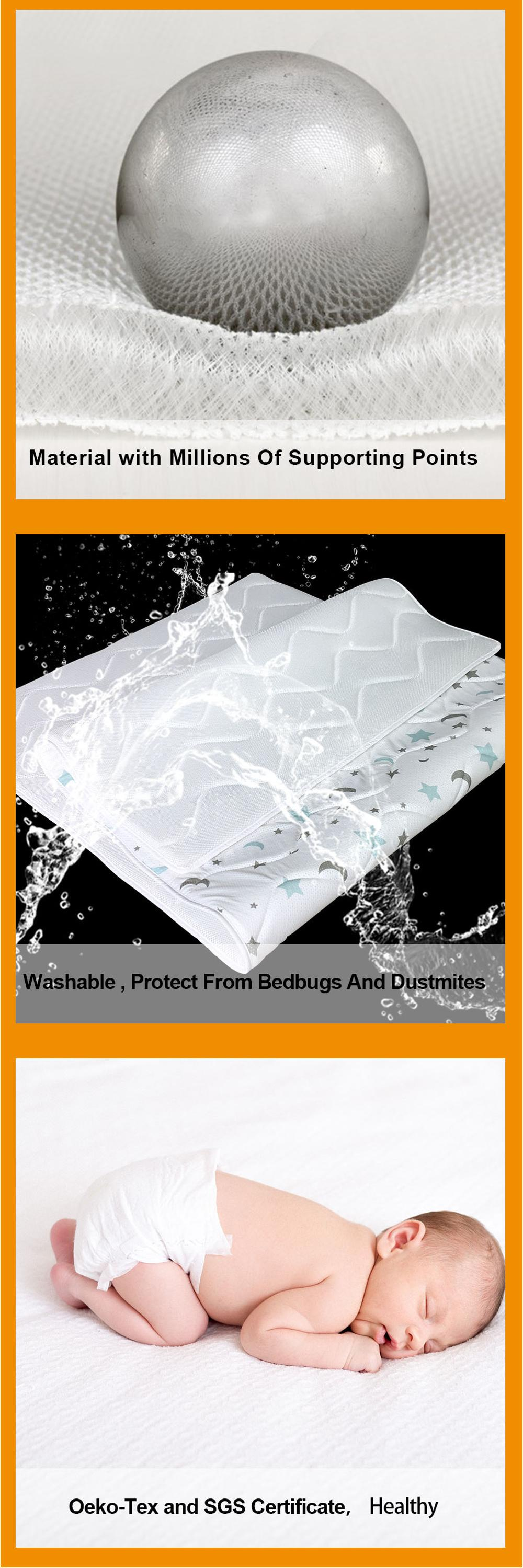 air flow easily washable 3d spacer mesh baby crib mattress protector