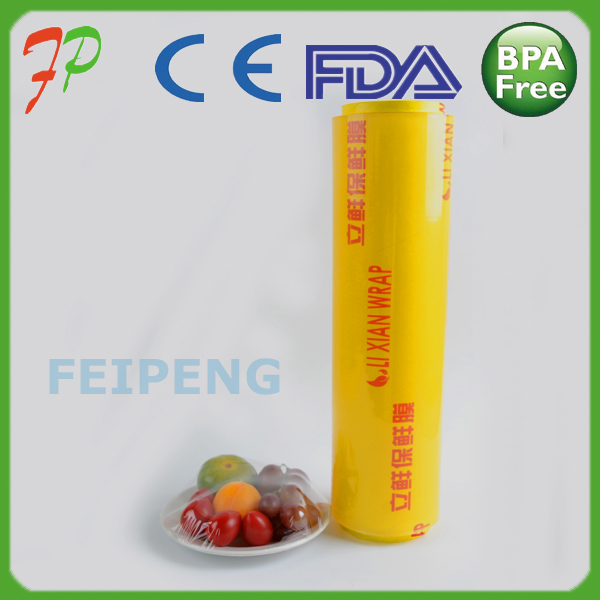 manufacturer food packaging plastic soft and transparent roll PVC cling film