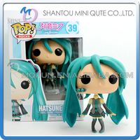 Mini Qute Funko Pop Anime Hatsune Miku Kagamine Rin girl gift super hero action figures cartoon models educational toy NO.FP 39
