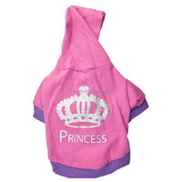 Customized crown pattern thick cheap fleece smart Pet Dog Hoodie