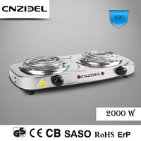 Cnzidel new design 2000w electric coil stove 2 burner