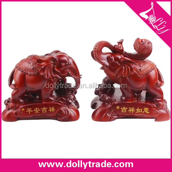 top design red resin pair elephant statues for sale