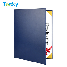 2018 Factory OEM Wholesale High Quality Cheap Leather Cover File Paper A4 Certificate Holder