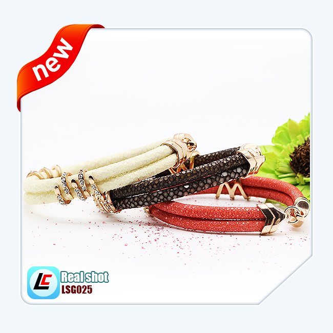 genuine stingray cord bracelet for watch band accessory