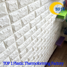 Hot selling Removable self-adhesive brick 3d wallpaper