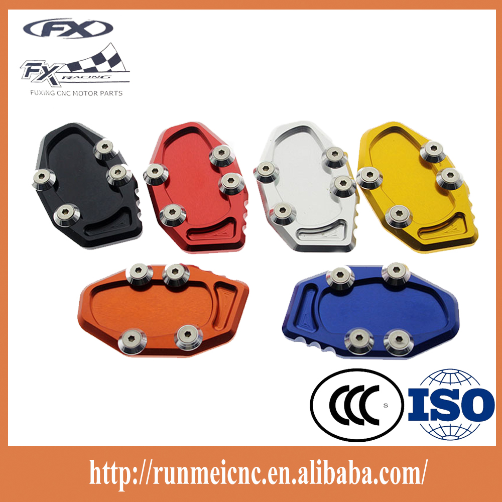 Custom made wholesale price cnc motorcycle kickstand pad for R25 R3