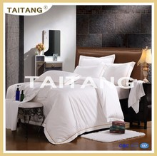 High quality hotel white bedding sheet set