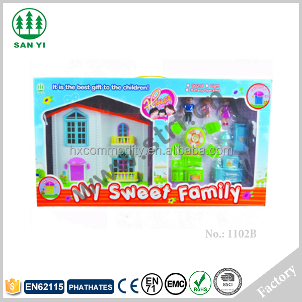 Popular factory diy kids doll house miniature