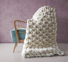 SZPLH 100% Handmade Chunky Soft Throw Blanket