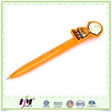 Cheap custom cute animals soft pvc ball kids pen