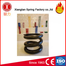 Overhead catenary unrolling car coil spring compression spring