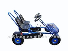 4 wheeler pedal go kart for two people, handbreak, high quality