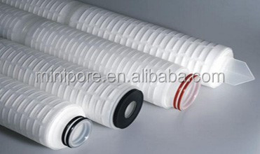 polypropylene pleated filter cartridge , chemical industry membrane pleated filter