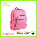 High Quality fashion 600d girls pink kids backpack