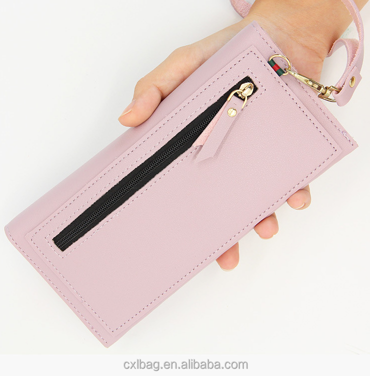 All-match Dress Casual Fashion Lady Bag Buckle Long Large Zipper Leisure Lady Hand Bag Purse