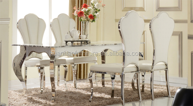 2015 popular luxury garden furniture dining room table with marble top