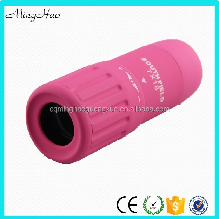 Minghao High Power New Pink Mini Toy Telescope Monocular