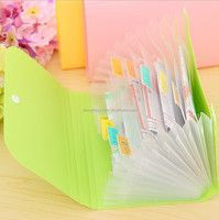 China factory manufacturer A4 Colorful plastic expanding file folder