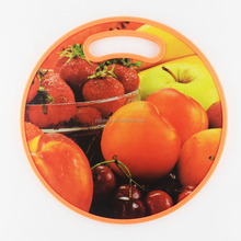 Round plastic cutting board chopping block chopping board