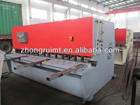 QC12Y hydraulic powered Sheet Metal Machine Shear with E10 digital position display for steel plate cutting