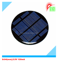 Custom made 6V 120mA round shape low price mini solar panel for LED light
