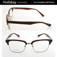 New types eyeglass frames with changeable lens for men and women metal ornament