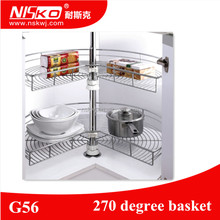 270 degree kitchen cabinet magic corner revolving basket