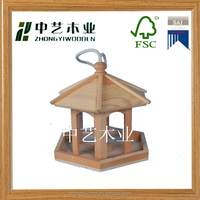 FSC Eco-friendly material stand wooden bird feeder kits
