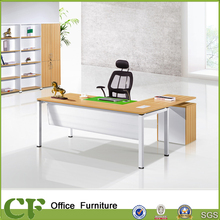 Durable Compact modern MDF wood CEO office desk for senior executive manager supervisor