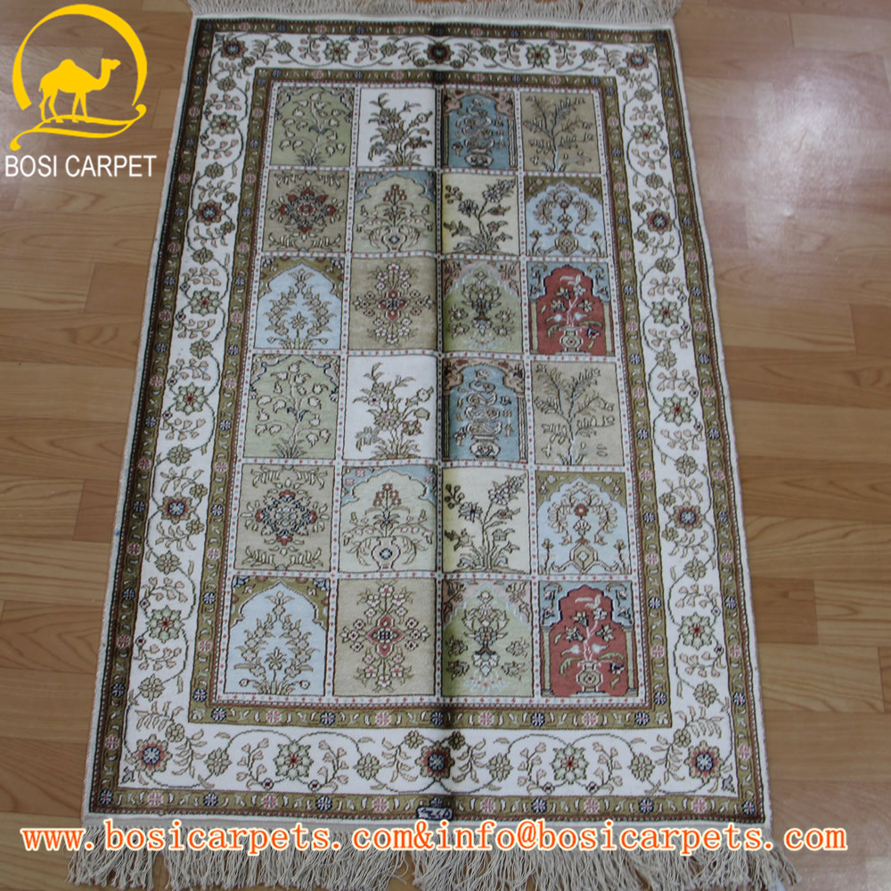2.5x4ft High quality handmade pure silk carpet Arab carpet rug for prayer room